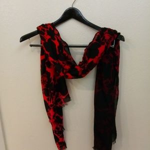 Scarf wrap red black floral Vera Bradley